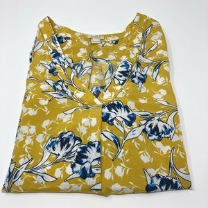 LOFT V Neck Floral Blouse Top